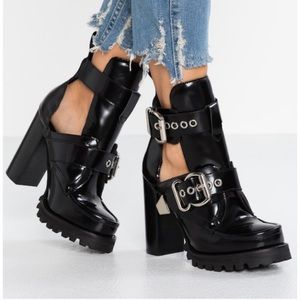 Jeffrey Campbell craven black heeled booties 8